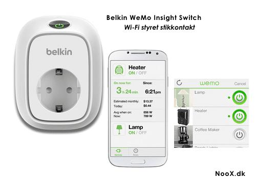 Fremragende Belkin WeMo Insight stikkontakt med Wi-Fi styring HO84