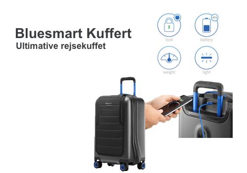 Bluesmart Rejse Kuffert med smartphone oplader, vægt og GPS