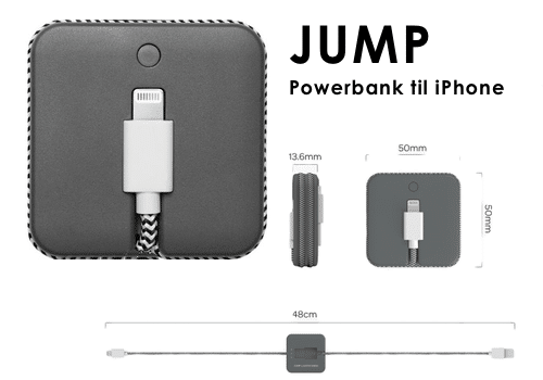 JUMP Cable powerbank iPhone Lightning 800mAh